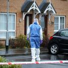Mornington housing development in Lisburn - scene of a police investigation following the death of a woman