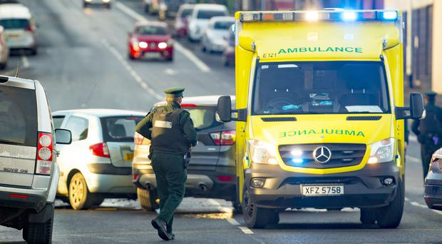 Emergency services at the scene of a RTC on the Crumlin Road , December 26th 2017 (Photo by Kevin Scott / Belfast Telegraph)