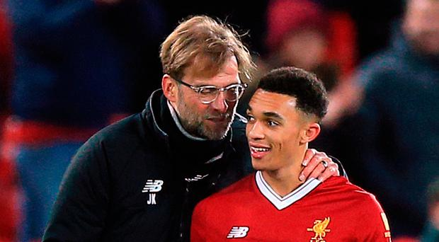 Tactics: Jurgen Klopp with words of advice for Trent Alexander-Arnold