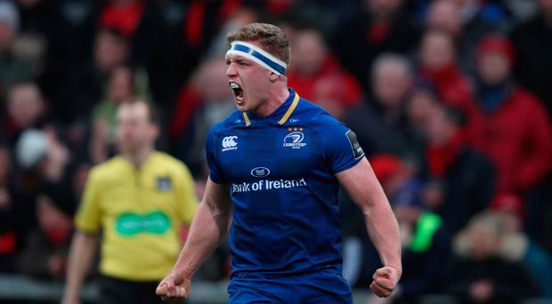 In with a shout: Leinster's Dan Leavy has been in fine form