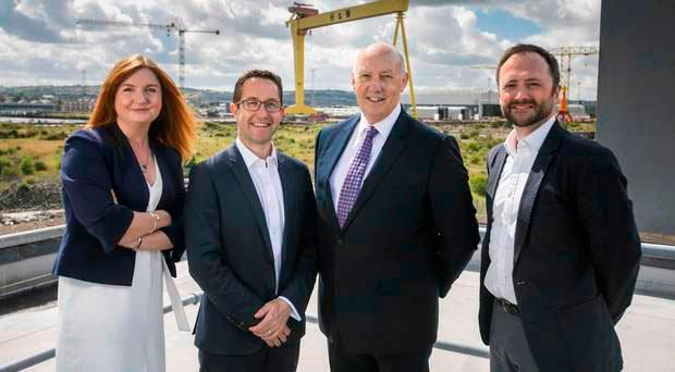 From left: Jayne Brady, partner, Kernel Capital; Alan Foreman, CEO, B-Secur; Colin Anderson, chairman, B-Secur and Andrew Sloane, investment lead, Accelerated Digital Ventures (ADV