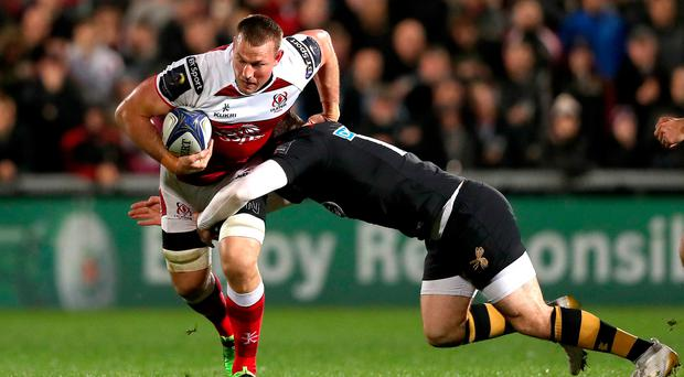 Running man: Jean Deysel's return for the New Year's Day clash against Munster at Kingspan is a big boost for Ulster chief Les Kiss