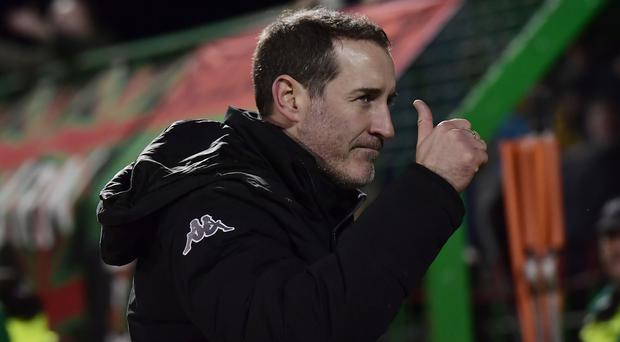 Strong focus: Gary Haveron has urged his players to prove their Boxing Day victory over Linfield wasn't a one-off