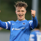 Big goal: Joshua McIlwaine hit an 83rd-minute equaliser to give Ballinamallard a draw with Carrick last night
