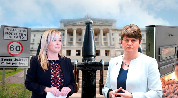 Will Brexit spell an open Irish border or not? Can Arlene Foster's reputation survive the RHI Inquiry? Will Sinn Fein and the DUP finally compromise after a year of deadlock? Will it be direct rule, in-between rule, or power-sharing again?