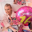 Alexandra Johnston with just some of her birthday cards