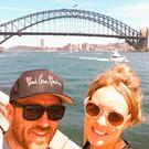 Oz-some: Lee Johnston and partner Christie Gee at Sydney Harbour Bridge