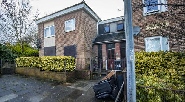 The scene of an overnight fire at a set of flats on the Ardoyne Road in Belfast on January 2nd 2018 (Photo by Kevin Scott / Belfast Telegraph)