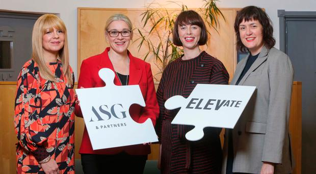 From left, ASG deputy head of PR Sasha McKnight, PR director Vicki Caddy, Elevate PR's Claire Feely and managing director Emma Kelly