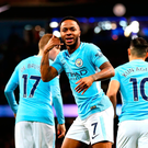 Right call: Raheem Sterling hails his early opener