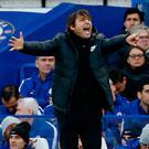 Wearing thin: Antonio Conte is frustrated with his small squad