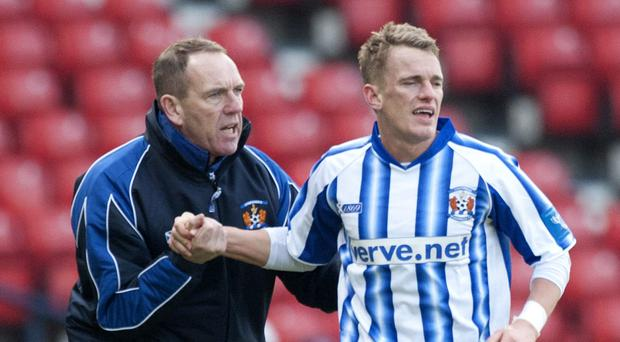 Kenny Shiels with his son Dean who faced abuse from rival fans