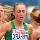 Left out: Kerry O'Flaherty won't be going to Australia despite hitting the qualification mark