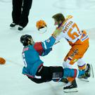 Gloves are off: Spiro Goulakos and Colton Fretter clash