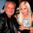 Gianni Versace with his sister Donatella