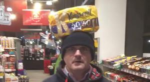 A screenshot from the video posted to MP Barry McElduff's timeline