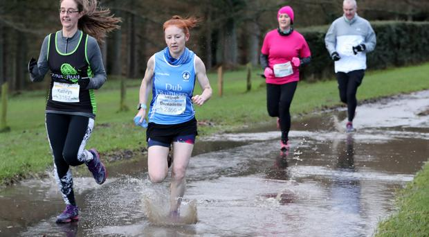 Born 2 Run series - 2nd place ladies 10k Bernadette O'Kane (Blue Vest) - Credit: Press Eye/Declan Roughan