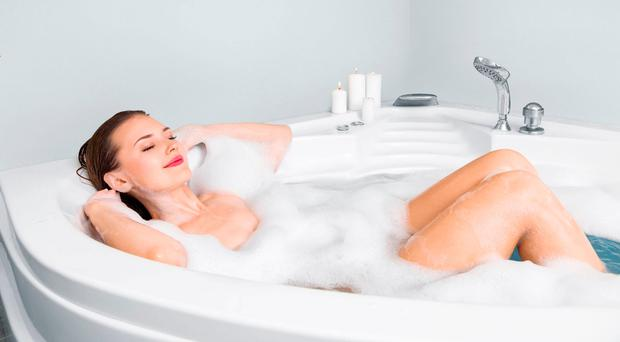 Quiet time: a relaxing bath can help lift your mood
