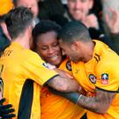 Big scalp: Newport 's Shawn McCoulsky (centre) won game
