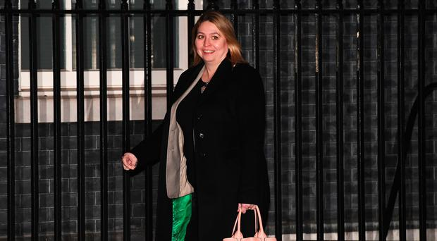 Karen Bradley arrives at 10 Downing Street as Prime Minister Theresa May reshuffles her cabinet on January 8, 2018 in London, England. The former Culture Secretary was named Northern Ireland Secretary.