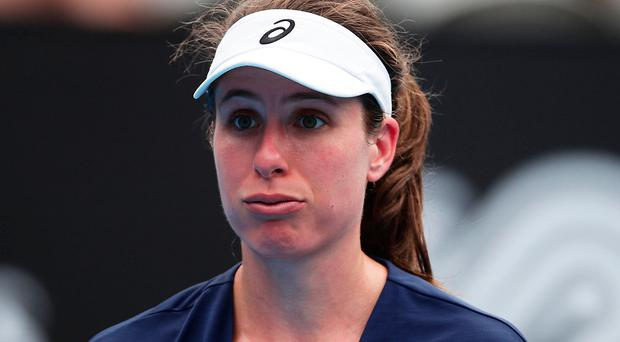 Konta suffers first round exit in Sydney""