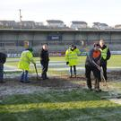 Frozen out: the pitch at the Athletic Grounds was unplayable