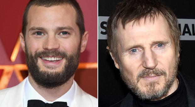 Pictured: NI star Jamie Dornan and Liam Neeson