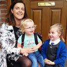 Alison Bingham with her daughters Hayley (2) and Anna (4)