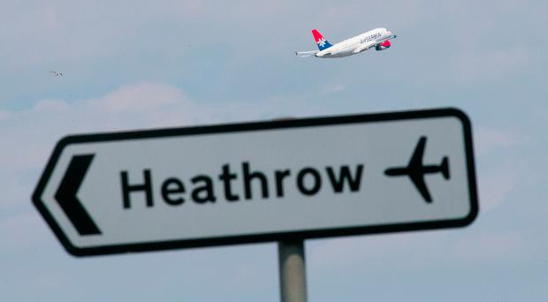 A plane taking off at Heathrow Airport. Pic PA Wire