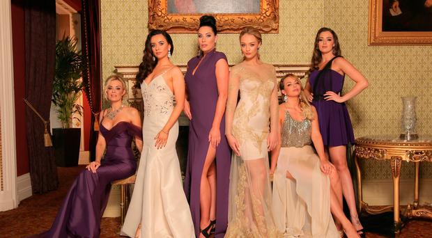 Beauty queens: (from left) Orlaith McAllister, Amira Graham, Karen Montague, Ashleigh Coyle, Gemma Garrett and Rebecca Maguire