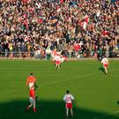 Crowded house: A massive crowd of 19,631 watch a Dr McKenna Cup clash between Tyrone and Armagh at Casement Park back in 2006