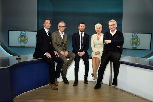 Martin Breen Sunday Life Editor is pictured with Stuart Brown Specsavers,Tony McGinn Store Director Specsavers Abbeycentre, Pamela Ballantine and Eamonn Holmes at Havelock house in Belfast