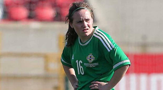 Back with a bang: Samantha Kelly scored winner on return