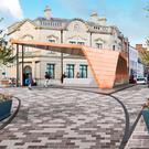 The proposed new Ballymena bandstand, which has been likened to a Klingon Bird of Prey