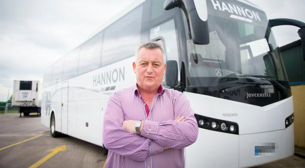 Aodh Hannon of Hannon Transport at his Aghalee HQ