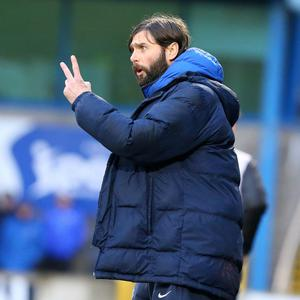 Glenavon manager Gary Hamilton watches on during Saturday's draw with Cliftonville.