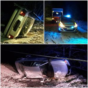 The overturned car in the Mid Ulster area / Credit: PSNI