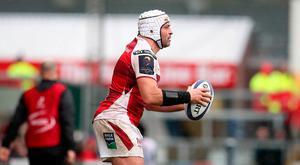 Focused: Ulster skipper Rory Best in action in the crucial win over La Rochelle at the Kingspan at the weekend