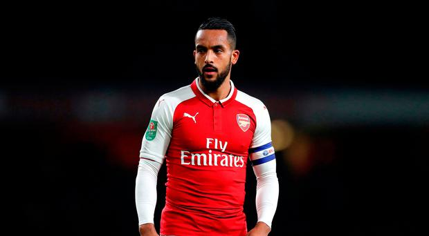 Mersey-bound: Theo Walcott is nearing a move to Everton