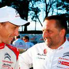 Close ties: Kris Meeke and Citroen boss Yves Matton