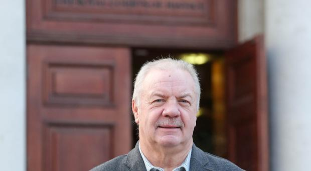 Victims campaigner Raymond McCord pictured at the High Court in Belfast where he was continuing his case to find out where the British government stands regarding a border poll. See copy by Alan Erwin/Laganside Media. Picture by Jonathan Porter/PressEye