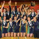 Champions: Northern Ireland after winning the Quad Series last June at Lisburn Racquets Club