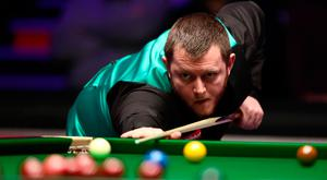 Mark Allen in action at the 2018 Dafabet Masters at Alexandra Palace