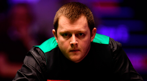 Mark Allen in action at the Masters.