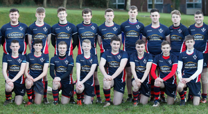 Ready for action: head coach Kyle McCallan (left) with his Lurgan College squad