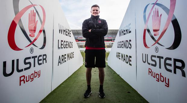 Crunch time: Ulster's Jacob Stockdale at Kingspan Stadium ahead of Sunday's massive European Champions Cup game away to Wasps