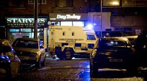 Police at the scene of a shooting in the Whiterock drive area of west Belfast on January 19th 2018 (Photo by Kevin Scott / Belfast Telegraph)