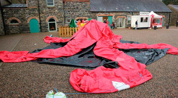 Visitors were left unimpressed with the bouncy castle at the Winter Wonderland at Clandeboye