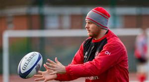 Familiar situation: Ulster's Chris Henry during Captain's run in Belfast yesterday