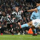Sergio Aguero was spot on for Manchester City